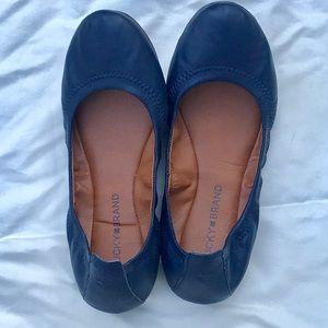 Lucky Brand Navy Blue Flats